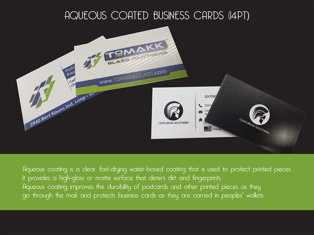 Aqueous Coated Business Cards