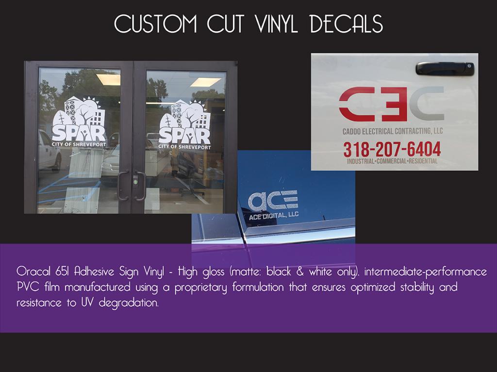 Custom Cut Vinyl Decals