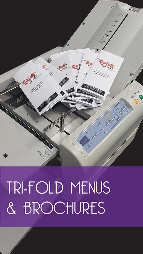 Tri-fold menus